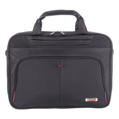 """Swiss Mobility Purpose Executive Briefcase, Holds Laptops 15.6"""", 3.5"""" x 3.5"""" x 12"""", Black"""