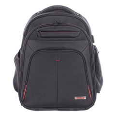 """Swiss Mobility Purpose 2 Section Business Backpack, Laptops 15.6"""", 8.5"""" x 8.5"""" x 19.5"""", Black"""