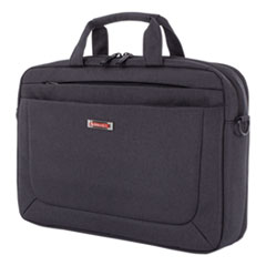 """Swiss Mobility Cadence 2 Section Briefcase, Holds Laptops 15.6"""", 4.5"""" x 4.5"""" x 16"""", Charcoal"""