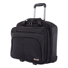 """Swiss Mobility Purpose Business Case On Wheels, Holds Laptops 15.6"""", 8.5"""" x 8.5"""" x 16"""", Black"""