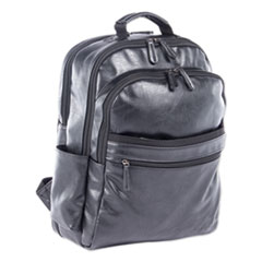 """Swiss Mobility Valais Backpack, Holds Laptops 15.6"""", 5.5"""" x 5.5"""" x 16.5"""", Black"""