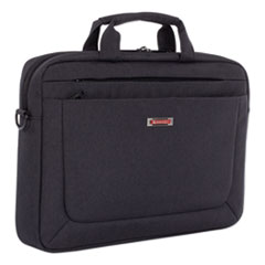 """Swiss Mobility Cadence Slim Briefcase, Holds Laptops 15.6"""", 3.5"""" x 3.5"""" x 16"""", Charcoal"""