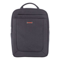 """Swiss Mobility Cadence 2 Section Business Backpack, For Laptops 15.6"""", 6"""" x 6"""" x 17"""", Charcoal"""