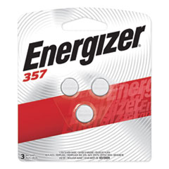 Energizer® 357/303 Silver Oxide Button Cell Battery, 1.5V, 3/Pack