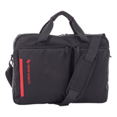 """Swiss Mobility Stride Executive Briefcase, Holds Laptops 15.6"""", 4"""" x 4"""" x 11.5"""", Black"""
