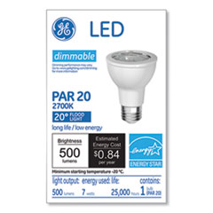 GE LED PAR20 Dimmable Warm White Flood Light Bulb