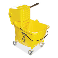 Boardwalk® Pro-Pac Side-Squeeze Wringer/Bucket Combo, 8.75gal, Yellow