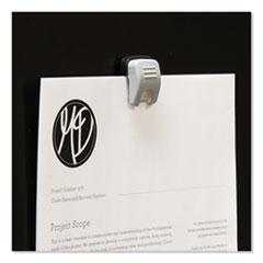 "Advantus Grip-A-Clip Magnetic/Adhesive Clips, 0.13"", Gray, 10/Box"