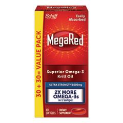 MegaRed® Ultra Strength Omega-3 Krill Oil Softgel, 60 Count