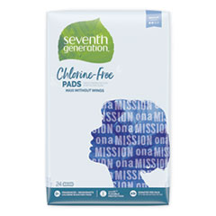 Seventh Generation® Chlorine-Free Maxi Pads, Regular, 24/Pack, 12 Packs/Carton