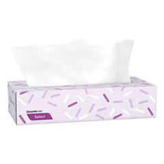 Cascades PRO Select Flat Box Facial Tissue, 2-Ply, White, 100 Sheets/Box, 30 Boxes/Carton