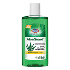 Clorox® Healthcare® AloeGuard Antimicrobial Soap, Aloe Scent, 4 oz Bottle, 24/Carton
