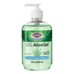 Clorox® Healthcare® GBG AloeGel Instant Gel Hand Sanitizer, 18 oz Bottle, 12/Carton