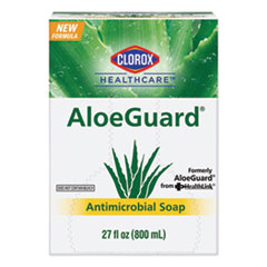 Clorox® Healthcare® AloeGuard® Antimicrobial Soap, Aloe Scent, 27 oz Bag, 12/Carton