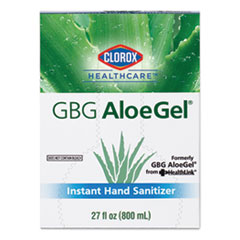 Clorox® Healthcare® GBG AloeGel Instant Gel Hand Sanitizer, 800 mL Bag-in-a-Box, 12/Carton