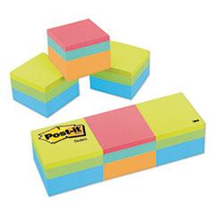 Post-it® Notes Mini Cubes, 1 7/8 x 1 7/8, Orange Wav/Green Wave, 400-Sheet, 3/Pack