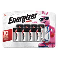 Energizer® MAX Alkaline C Batteries, 1.5 V, 8/Pack