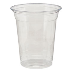 Dixie® Clear Plastic PETE Cups, Cold, 12oz, 25/Sleeve, 20 Sleeves/Carton