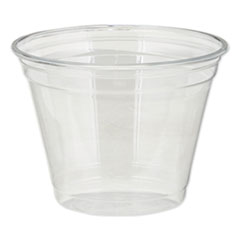 Dixie® Clear Plastic PETE Cups, Cold, 9oz, Squat, 50/Sleeve, 20 Sleeves/Carton
