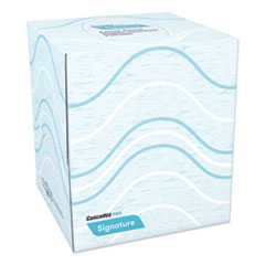 Cascades PRO Signature Facial Tissue, 2-Ply, White, Cube, 90 Sheets/Box, 36 Boxes/Carton