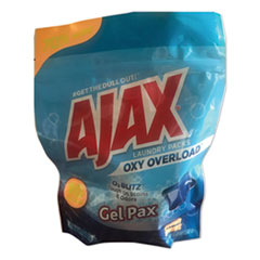 Ajax® Laundry Detergent Pods, Oxy Overload, Fresh Burst Scent, 16 Loads, 16 Pods/Pouch, 8 Pouches/Carton