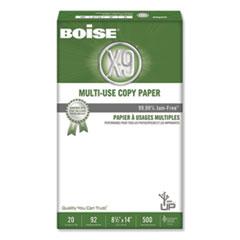 Boise® X-9 Multi-Use Copy Paper, 92 Bright, 20lb, 8.5 x 14, White, 500 Sheets/Ream, 10 Reams/Carton