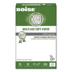 Boise® X-9 Multi-Use Copy Paper, 92 Bright, 20lb, 11 x 17, White, 500 Sheets/Ream, 5 Reams/Carton