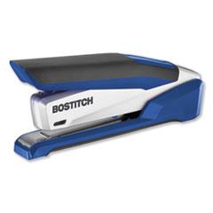 InPower Spring-Powered Premium Desktop Stapler, 28-Sheet Capacity, Blue/Silver