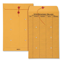 Quality Park(TM) Brown Kraft String & Button Interoffice Envelope