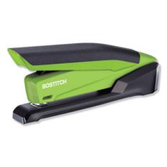 InPower Spring-Powered Desktop Stapler, 20-Sheet Capacity, Green