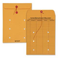 Quality Park™ Brown Kraft String & Button Interoffice Envelope