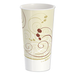 Dart® Double Sided Poly Paper Cold Cups, 21 oz, Symphony Design, 50/Pack, 20 Packs/Carton