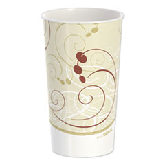 Dart® Double Sided Poly Paper Cold Cups, 44 oz, Symphony Design, 40/Pack, 12 Packs/Carton