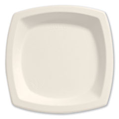 "Dart® Bare Eco-Forward Sugarcane Dinnerware, 6 7/10"" Plate, Ivory, 125/Pk"