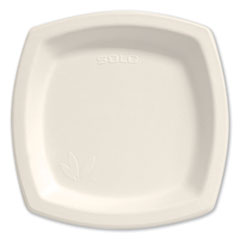 "Dart® Bare Eco-Forward Sugarcane Dinnerware, 8 3/10"" Plate, Ivory, 125/Pk"