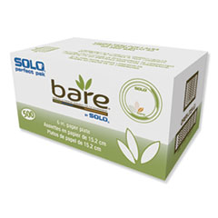 "Dart® Bare Paper Eco-Forward Dinnerware, 6"" Plate, Green/Tan, 500/Carton"