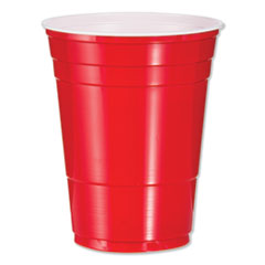 Dart® Solo Plastic Party Cold Cups, 16oz, Red, 50/Bag, 20 Bags/Carton