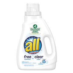 All® Liquid Laundry Detergent Free Clear for Sensitive Skin, 46.5 oz Bottle, 6/Carton