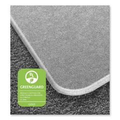 Floortex® Cleartex MegaMat Heavy-Duty Polycarbonate Mat for Hard Floor/All Carpet, 46 x 60, Clear