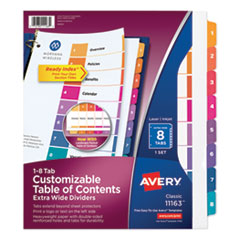 Avery® Customizable Table of Contents Ready Index® Multicolor Dividers with Printable Section Titles