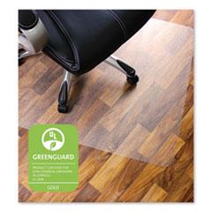 Floortex® Cleartex Ultimat Polycarbonate Chair Mat for Hard Floors, 48 x 60, Clear