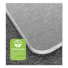 Floortex® Cleartex MegaMat Heavy-Duty Polycarbonate Mat for Hard Floor/All Carpet, 46 x 53, Clear