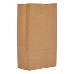"Grocery Paper Bags, 50 lbs Capacity, #12, 7""w x 4.38""d x 13.75""h, Kraft, 500 Bags"
