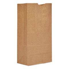 "Grocery Paper Bags, 57 lbs Capacity, #20, 8.25""w x 5.94""d x 16.13""h, Kraft, 500 Bags"
