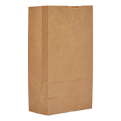 "General Grocery Paper Bags, 57 lbs Capacity, #12, 7.06""w x 4.5""d x 13.75""h, Kraft, 500 Bags"