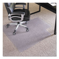 "Performance Series AnchorBar Chair Mat for Carpet up to 1"", 45 x 53, Clear"