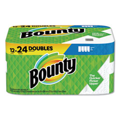 Bounty® Select-a-Size Paper Towels, 2-Ply, White, 5.9 x 11, 110 Sheets/Roll, 12 Rolls/Carton
