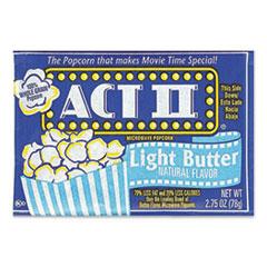 Act II® Microwave Popcorn, Light Butter, 2.75 oz Bag, 36/Carton