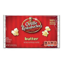 Orville Redenbacher's® Gourmet Microwave Popcorn, Butter, 3.29 oz Bag, 36/Carton