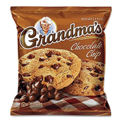 Grandma's® Cookies - Single Serve, Chocolate Chip, 2.5 oz Packet, 60/Carton
